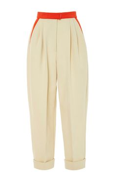 High Waisted Cropped Trousers by DELPOZO Now Available on Moda Operandi
