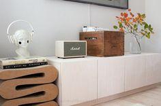TV-Schränke — Radis - Natürlich kompaktes Wohnen Tv Cabinet Design, Tv Cabinets, Plywood, Toy Chest, Storage Chest, Magazine Rack, Furniture, Collection, Home Decor