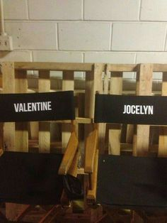Valentine and Jocelyn's chairs!! xx