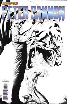 Peter Cannon Thunderbolt # 3 Dynamite Entertainment Incentive Jae Lee Black & White Cover