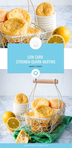 Low Carb Zitronen-Quark-Muffins - Sole Local My Site No Cook Desserts, Low Carb Desserts, Healthy Muffins, Healthy Sweets, Simply Yummy, Classic Cake, Baking Tips, Cakes And More, No Bake Cake