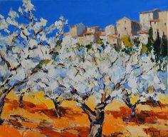 "Gérard Reynier ""amandiers en fleurs""@@@@"