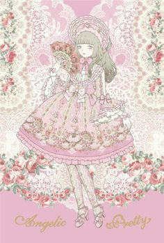 sucre-dolls:Belle Epoque Rose series by Angelic Pretty /Illustration by Kira Imai