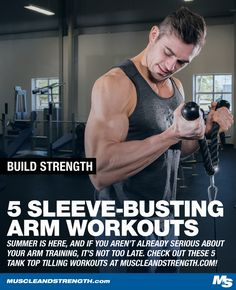 With tank top season right around the corner, it's time to get serious about your arm training. Check out Coach Myers' tank top filling arm workouts!
