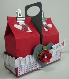 All Stampin Up Hearts2luv Mini Milk Box Big Shot 3d Paper