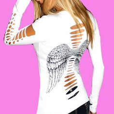 Women S Fashion Express Shipping Dad To Be Shirts, Cut Shirts, Cool Outfits, Fashion Outfits, Womens Fashion, Affliction Clothing, Bustier, Sexy Tattoos, Looks Cool