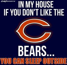 This is going on my front door😆😆 Bears Football, Football Memes, Baseball, Chicago Bears, Chicago Cubs Logo, Gale Sayers, Cubs Team, Bear Cubs, Shirts With Sayings