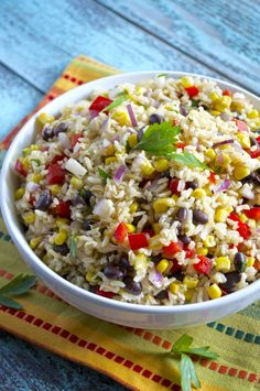 Southwest Brown Rice Salad - Fashionable Foods