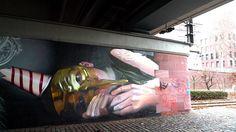 "Street art   Mural ""A bird is not always a bird"" (Frankfurt, Germany) by CASE"