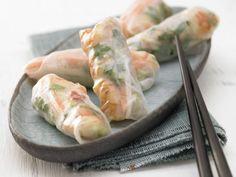 The Shrimp Rolls recipe out of our category Shrimp! EatSmarter has over healthy & delicious recipes online. Shrimp And Vegetables, Fresh Vegetables, Veggie Recipes, Low Carb Recipes, Healthy Recipes, Shrimp Rolls, Fresh Rolls, Finger Foods, Food Inspiration