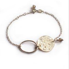 """Bracelet """"Rivage"""", bracelet délicat fait de nacre et d'argent massif, création bijou originale par Les Alluvions"""