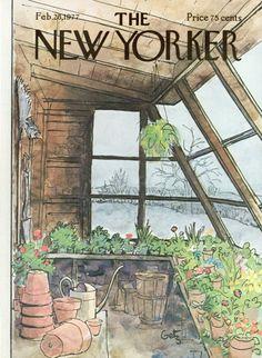 Arthur Getz : Cover art for The New Yorker 2715 - 28 February 1977