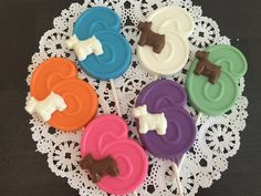 NUMBER SIX DOG Chocolate Lollipops6th by CandyConfections on Etsy