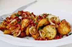 Röst Kartoffelsalat mit Bacon, karamellisierten Zwiebeln und Bacon-Vinaigrette