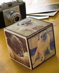 30 Mod Podge photo transfer crafts you'll love. - Mod Podge Rocks (alphabet blocks or block puzzle as gift ideas)