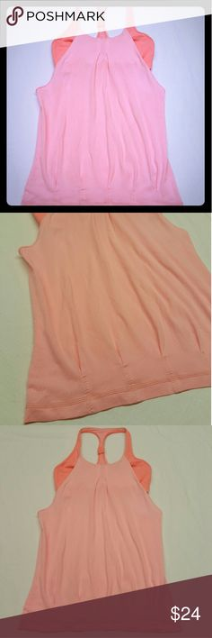 *SALE** LuluLemon Practice Freely Workout Tank LuluLemon Workout Tank  Size - 6   Practice Freely Style Great used condition  No rips Only flaws are - tiny piling (photo 7) and small stain (photo 8)  99% sure the little stain will come out it is extremely small and it will most likely come out in the wash.  Light peachy pink coloring lululemon athletica Tops Tank Tops