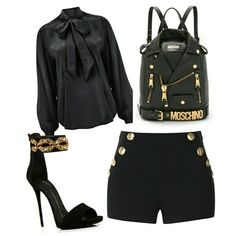 50 shades of black.  Love moschino