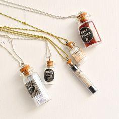DIY Mini Apothecary Jar Necklaces
