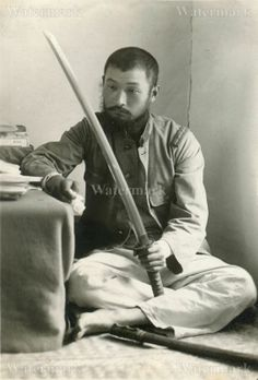 MODERN REPRINT WWII PHOTO: ARMY SOLDIER WITH WAR SWORD!!