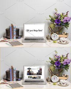 Wonderland Macbook Styled Mockup #19. Gift Voucher Design Templates. $15.00