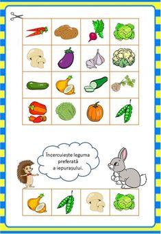 Învățăm jucându-ne: Legumele - Logorici School Projects, Preschool Activities, Montessori, Diy And Crafts, Kindergarten, Language, 1, Comics, Learning