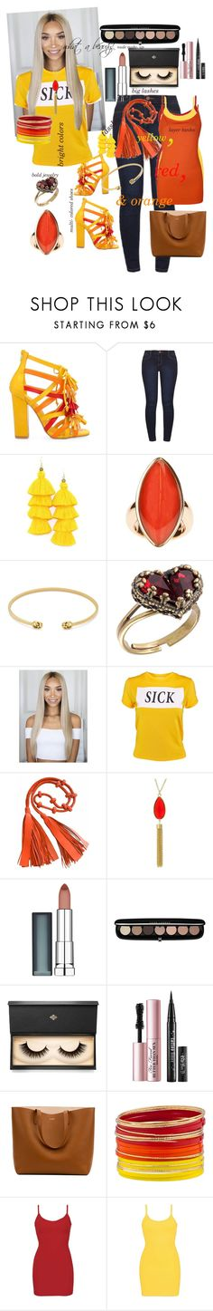 """Show your true colors"" by papillon825 ❤ liked on Polyvore featuring Privileged, Dorothy Perkins, Vhernier, Gucci, Michal Negrin, The Ragged Priest, Maybelline, Marc Jacobs, Lash Star Beauty and Too Faced Cosmetics"