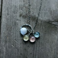 monogram mom's necklace