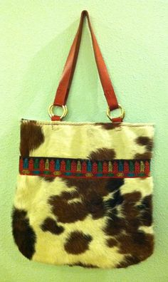 Deluxe Hair on Cowhide Tote, Market Bag by GretelStoudt on Etsy