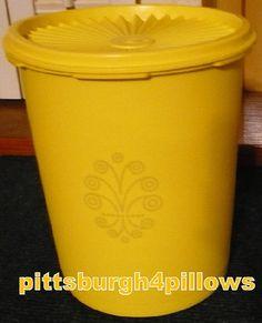 Tupperware  Medium Size Canister  Lemon Peel by pittsburgh4pillows
