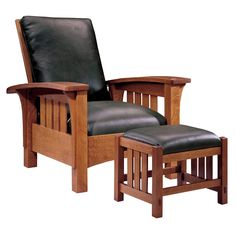 Stickley Morris Chair - the original recliner. My grandmother had one that is now my 92 yr old Aunt's favorite place to read ;-)