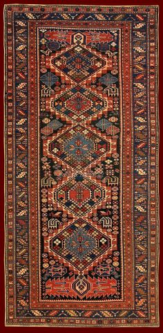 ANTIQUE SHIRVAN KUBA RUG CAUCASUS - 270 X 130 CM - 8.86 X 4.27 FT - COD. 140000000542