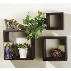 floating shelves - boxes