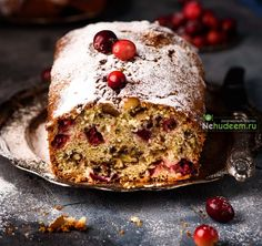 Orange cake with a cranberry and nuts Christmas Salad Recipes, Christmas Desserts, Cupcakes, Cupcake Cakes, Baking Recipes, Cake Recipes, Sweet Bakery, Russian Recipes, Cookie Desserts