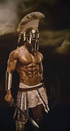 The awesome Spartan warrior. Greek Warrior, Fantasy Warrior, Fantasy Men, Art Masculin, Spartan Tattoo, Spartan Warrior, Spartan Body, Spartan 300, Greek Mythology