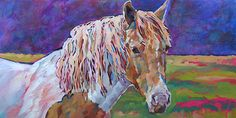 A Horse Called Sophie • 12 x 24 • oil on Gessobord WORK-IN-PROGRESS - Louisiana Edgewood Art Paintings by Louisiana artist Karen Mathison Schmidt