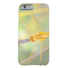 Yellow and gold dragonfly barely there iPhone 6 case