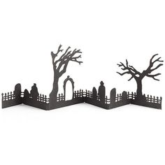 Crate & Barrel Halloween Haunted Graveyard ($25) ❤ liked on Polyvore featuring home, home decor, holiday decorations, crate and barrel and halloween home decor