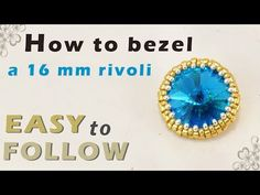 (31) how to bezel a 16 mm rivoli - YouTube