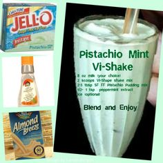 Pistachio Mint Visalus Shake Recipe- For more Visalus Recipes go to :  https://www.facebook.com/VISALUSRECIPE