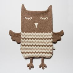 whatkatiedoes:    Beryl the Owl Hot Water Bottle Cover by saracarr on Etsy