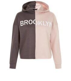 Teens Pink Colour Block Hoody