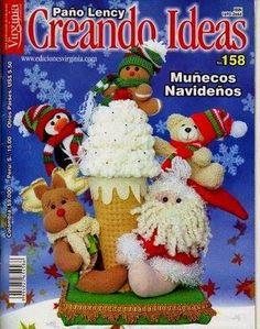 Revista  Crenado ideas navideña Christmas Books, Christmas Humor, Christmas Crafts, Christmas Decorations, Xmas, Christmas Ornaments, Holiday Decor, Merry Christmas, Book Crafts
