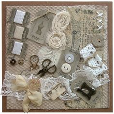 Přání textilní koláž Šicí přání natur : Ostatní přání do obálky : Prodej přáníček : Originální ruční přáníčka
