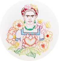 * SMALL version * Las Flores de Frida - Frida's Flowers Embroidery Pattern PDF