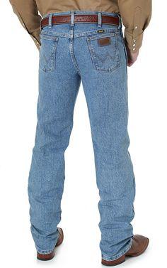 Wrangler® Premium Performance Advanced Comfort Cowboy Cut™ Stone Bleach Stonewash Jeans- Regular Fit