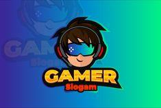 Gaming Logo Design by rogeriomarcos on Creative Market  #logogamer #gamer #gaming #goldenratio