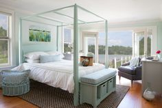 Bedroom by Maine Cottage #colorfulfurniture