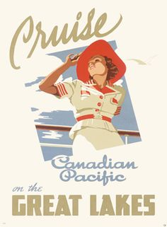 Canadian Pacific Oceanline Lakes Giclee Fine Art Print
