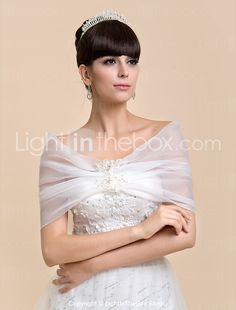 Personalized Nice Sleeveless Organza Evening/Wedding Shawl(More Colors) - AUD $ 21.44