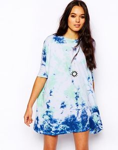 Enlarge ASOS T-Shirt Dress in Galactic Tie Dye Print